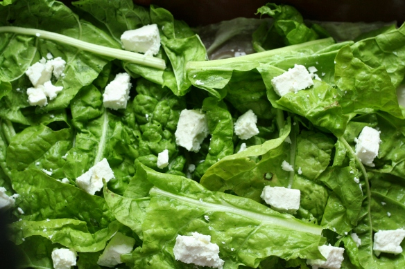 spinach and feta uncooked